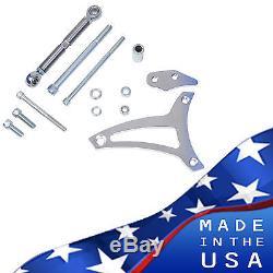 Billet Aluminum Ford Alternator Bracket 289 302 V-Belt Kit Mid Mount SBF Chrome