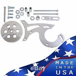 Billet Aluminum Ford Power Steering Bracket 289 302 351W V-Belt 5.0 SBF Pulley