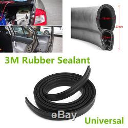 Black 3M Rubber O U Channel Edge Trim Seal Trunk Strip For Car Door Window Frame