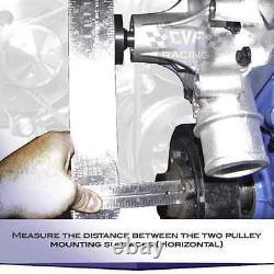 Black Aluminum Ford Water Pump Pulley 289 302 351W V-belt SBF 2 Groove V-belt