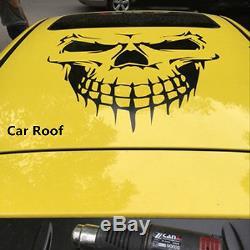 Black Skull Skeleton Car Hood Decal Rear Door Sticker For Truck Window Tailgate
