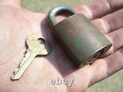 Brass Original Ford motor co. Auto Padlock lock key accessory vintage tool kit