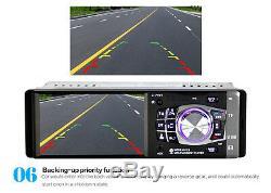 Car SUV Stereo Radio 4.1 Bluetooth In-Dash HD MP5 MP3 USB Player Camera DC 12V