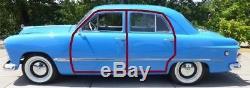 Door Rubber Weather Strip Seal Pr 1949-54 Ford/Mercury All Car