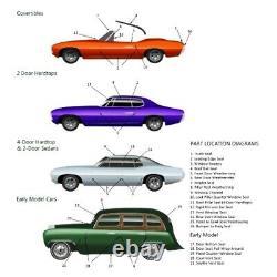 Door Seal Gasket Weatherstrip for Ford / Mercury All Cars 1949-1954 Sedan Pair
