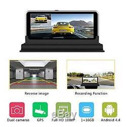 Dual Lens 7 HD 1080P Car DVR Rearview Camera Dash Cam Recorder GPS Navigation