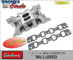 Edelbrock 7564 RPM Air-Gap SB Ford 351C Intake with Free Edelbrock Intake Gaskets