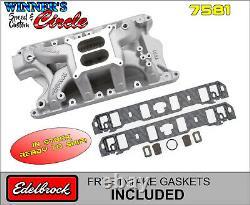 Edelbrock 7581 RPM Air-Gap SB Ford 351W Intake withFREE Intake Gaskets