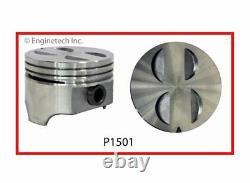 Flat Top Pistons Set with Pins for Ford Lincoln Mercury 289 302 4.7L 5.0L