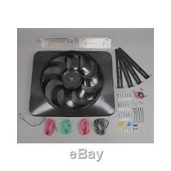 Flex-a-lite Black Magic Xtreme Electric Fan 3,300 CFM Puller 15 Dia Single 180