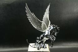Flying Stallion 40's 50's Hood Ornament Custom Hot Rod Truck Clear Wings