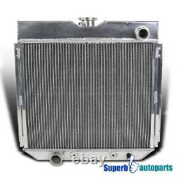 For Driver/Left Side Aluminum Radiator 1967-1969 Mustang V8 3-Row Core MT 20'