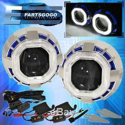 For Toyota 2.5 Bi Xenon Headlight Retrofit Ccfl Halo Square Blue White Hid 6K