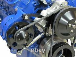 Ford Alternator Bracket 289 302 Billet Aluminum V-Belt SBF Mid Mount Alt Brkt