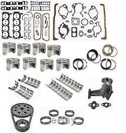 Ford Car Ho 302 5.0l 87-90 Premium Engine Rebuild Kit Pistons Bearings Gaskets