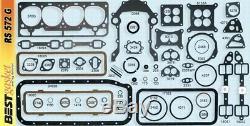 Ford/Edsel/Mercury 272 292 Y-Block Full Engine Gasket Set/Kit BEST 1955-64