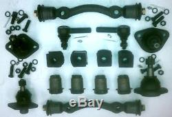 Ford FULL Size Front End Kit Tie Rod Ends+Ball Joints+Control Arm Bushings 1957