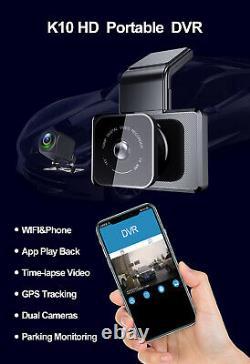 GPS Dual Lens Camera HD 3 Car DVR Dash Cam Video Recorder G-Sensor Night Vision