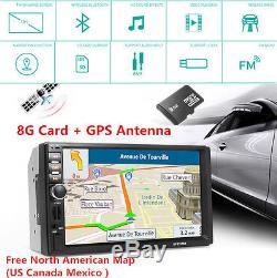 HD Car In-dash Touch Screen MP3 MP5 Player Bluetooth USB GPS Navi Antenna SD FM