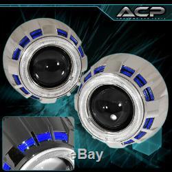 Halo Projector Hid Bixenon Retrofit Headlight Round Blue White Universal