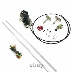 Heavy Duty Power Windshield Wiper Kit with Switch and Harness muscle car rat