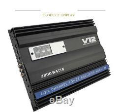 High Power 3800 Watt RMS 4-CH Channels Car Audio Power Stereo Amplifier Amp 4Ohm