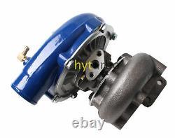 Hybrid T3/T4 T3T4 T04E Blue Housing 5 Bolt Flange Turbo Turbocharger Racing