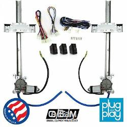 Jeep Wagoneer 1963 1991 Power Window Regulator Kit with 3 LED Switches