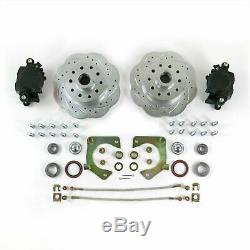MUSTANG II 2 FRONT DISC BRAKE KIT 11 PLAIN ROTORS NO SPINDLES SS LINES Bolt On