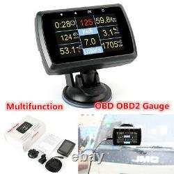 Multifunction Car On-board OBD OBD2 Gauge Driving Computer Speed Meter with Holder