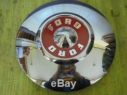 NICE Take Offs 55 56 Ford Wire Spoke HUB CAPS 15 Hubcaps 1955 1956 Wheel Covers