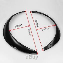New 4pc Universal Car Black Fender Flares Flexible Durable Polyurethane Moulding