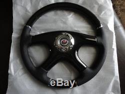 New Raptor 15 Black Leather Black Wood Grain Steering Wheel