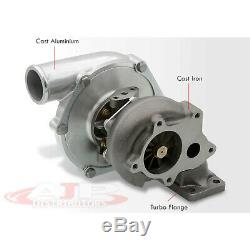 New! T3/T4 T3 T4 Ball Bearing Turbo Charger Boost. 63 A/R Standard 5 Bolt T04E