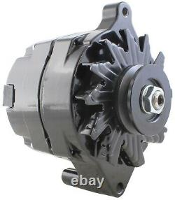 One-Wire Alternator 140 Amps Black Powdercoated 12V Ford 1G with GM Style Case