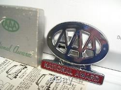 Original 1950s nos AAA auto club emblem badge chrome vintage scta GM Ford Chevy