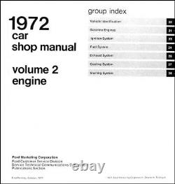 Original 1972 Ford Shop Manual Set Ranchero Torino Mustang T Bird LTD Maverick