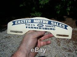 Original Ford motor co. Automobile nos License plate topper badge promo vintage
