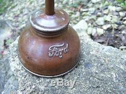 Original Ford motor co. Automobile promo can oil accessory tool kit part vintage