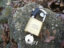 Original Ford nos Padlock auto key accessory brass vintage tool mustang fairlane