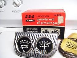 Original vintage nos mint 60s SEARS dual-gauge Amp Oil auto gm chevy accessory