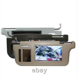Pair 7 Sun Visor LCD Monitor Car Mirror For DVD VCD TV Parking Rear View Camera