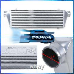 Polished Universal Intercooler For Turbocharger / Supercharger (27.5x7x2.5)