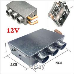 Portable 12V 80W Car Heating Heater Iron Compact Heater Defroster Demister Metal