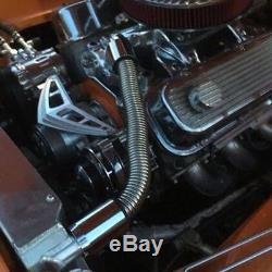 Professional 24 Car Stainless Steel Chrome Radiator Flex Coolant Water Hose Kit