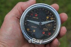 Rare Original 50s dash accessory Oil lube Reminder auto vintage dealer Gauge