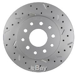 Rear Disc Brake Conversion Kit Ford 8in & 9in Small Bearing with X Drill Rotor
