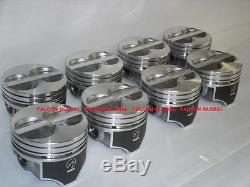 SPEED PRO Ford 289 302 Flat Top Hypereutectic Coated Pistons Set/8 9.01 +. 030