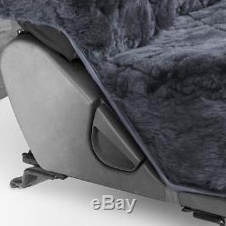 Sheepskin Car Seat Covers 2pc Set Real Australian Soft Padded Cushion Leather