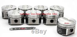 Speed Pro/TRW Ford 390 FE Forged Flat Top Coated 4-Barrel Pistons Set/8 +. 030